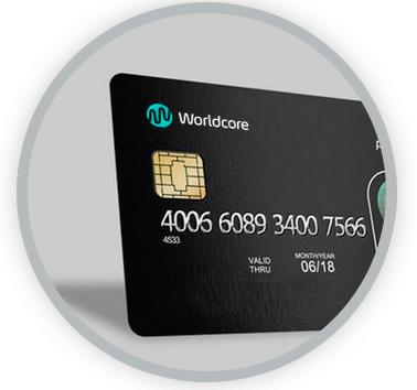 Worldcore Visa debit card