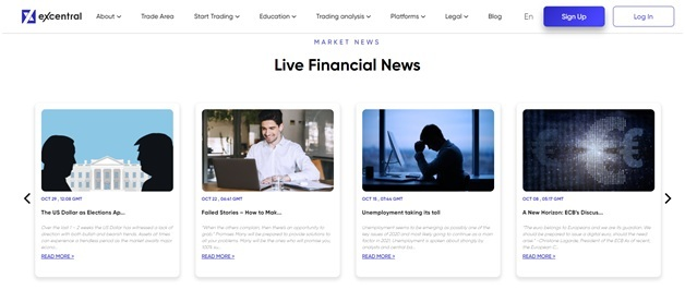 eXcentral market news